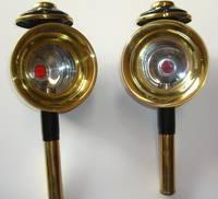 Paar Kutschlampen Messing